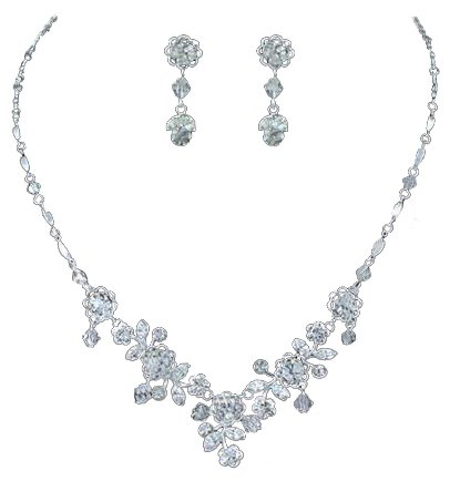 Schmuck set  PreciousYou Schmuck-Set – Strass, Collier, Ohrringe, edel ...