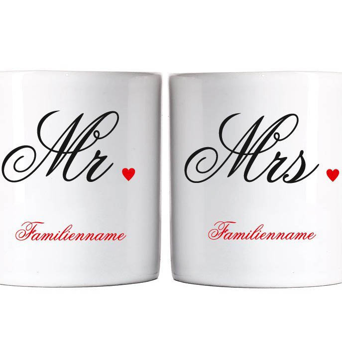 privat tasse hochzeitstassen mr mrs individuell. Black Bedroom Furniture Sets. Home Design Ideas